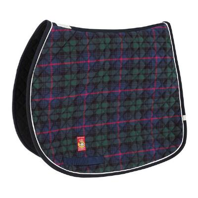 Navy Baker Tartan Plaid AP Saddle Pad
