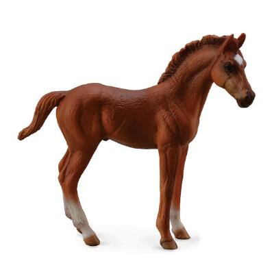 Breyer Corral Pals Chestnut Thoroughbred Foal - Standing