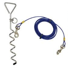 Titan Spiral Tie Out Stake and Medium Tie Out Combo 15 ft