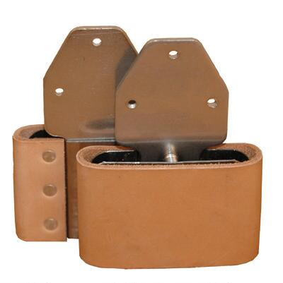 Blevins Buckle 3in. Leather Covered