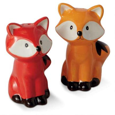 Cute Fox Salt and Pepper Shaker Set