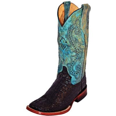 Ferrini Print Caiman Tail Ladies Western Boot