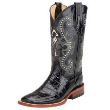 Ferrini Mustang Black Gator Print Ladies Western Boot - TB