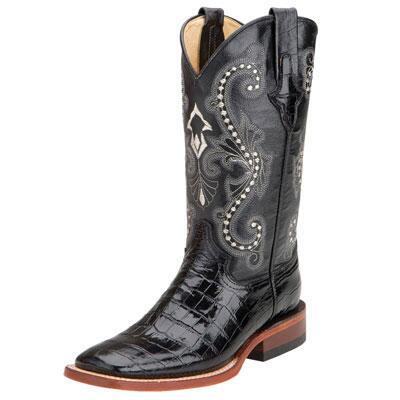 Ferrini Print Ladies Belly Gator Western Boot