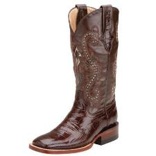 Ferrini Mustang Chocolate Gator Print Ladies Western Boot - TB