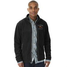 Custom Mens Fleece Jacket with Left Chest Embroidery - TB