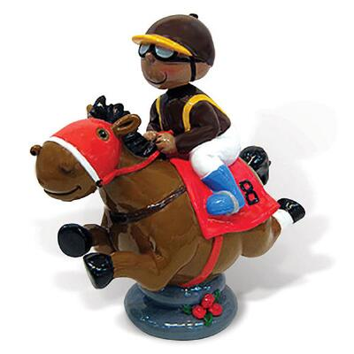 Bobble Head Race Horse Piggy Bank