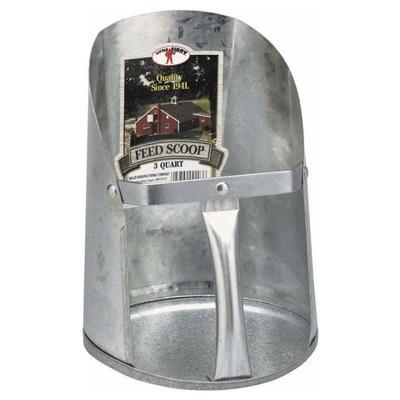 Little Giant Galvanized Feed Scoop 3 Quart