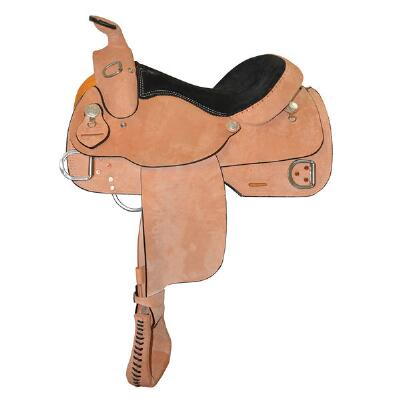 Dakota Trainer Rough Out Western Saddle