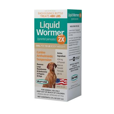Liquid Wormer 2X for Dogs 8 oz
