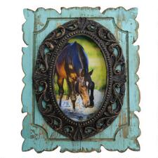 Turquoise Distressed Antiqued 4x6 Picture Frame - TB