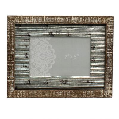 Western Moments 5x7 Rustic Metal Picture Frame