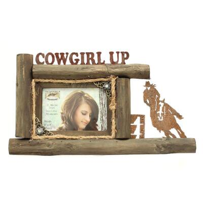 Western Moments Cowgirl Up 4x6 Picture Frame
