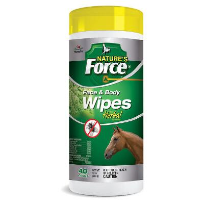 Manna Pro Natures Force Face and Body Wipes 40 ct