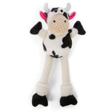 GoDog Checkers Skinny Cow Dog Toy - TB