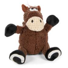 GoDog Checkers Sitting Horse Dog Toy - TB
