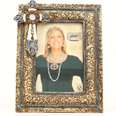 Picture Frame Rustic Cross 4 X 6