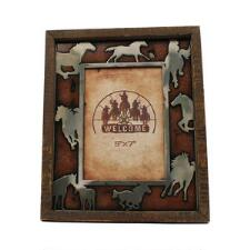 Western Moments Running Horses 5x7 Picture Frame