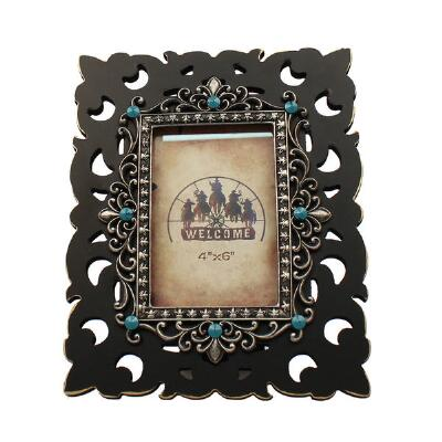 Western Moments Southwest Turquoise 4x6 Picture Frame