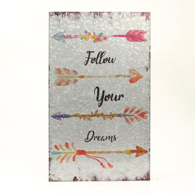 Follow Your Dreams Arrow Wall Decor