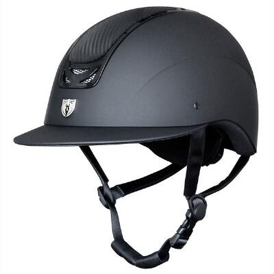 Tipperary Royal Wide Brim Helmet - Carbon Leather Top