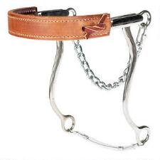 Reinsman Mechanical Hackamore Flat Leather Nose - TB