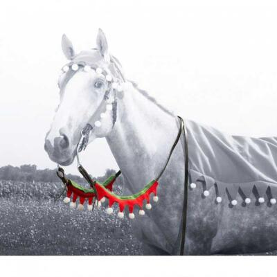 Holiday Horse Rein Covers - Set of 2