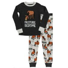 Lazy One Kids Pasture Bedtime Black Pajama Set - TB