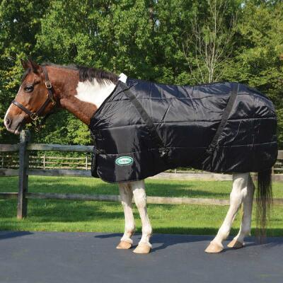 Channel Quilt Heavyweight Stable Blanket Open Front 420D Lining