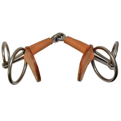 Italian Leather Covered Snaffle Bit