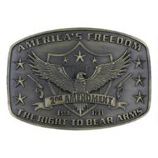 2nd Amendment Attitude Belt Buckle