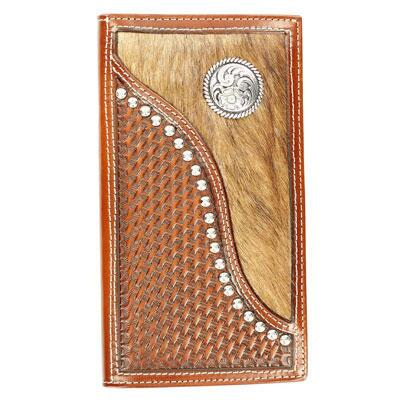 Ariat® Rodeo Mens Leather Wallet with Basketweaver