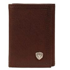 Ariat Performance Trifold Flipcase Leather Mens Wallet - TB