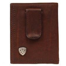 Ariat Performance Mens Money Clip Dark Copper - TB