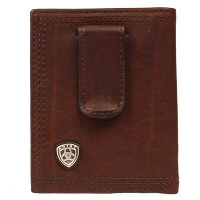 Ariat Performance Mens Money Clip Dark Copper