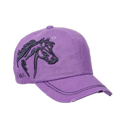Distressed Lavender Baseball Hat