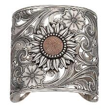 Ring of Fire Sunflower Cuff Bracelet