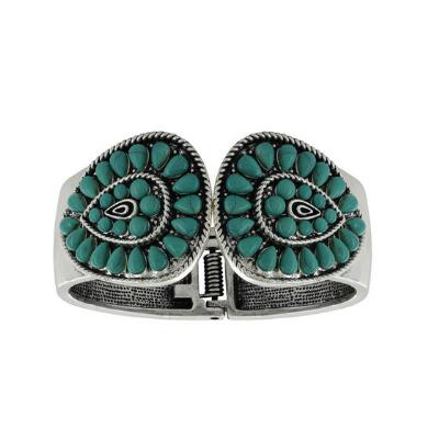 Rock47 Bohemian Beauty Turquoise Bangle Bracelet