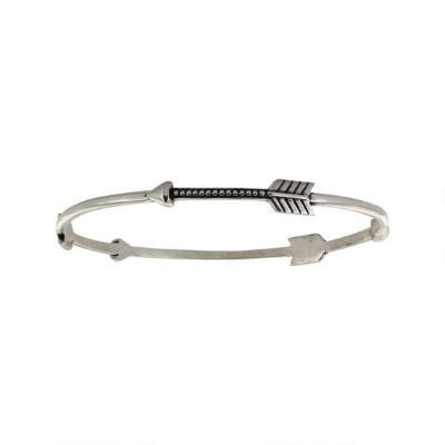 Rock47 Tribal Flair Three Arrow Bangle Bracelet