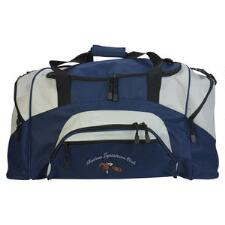 Sport Duffle Bag with Text and Small Logo