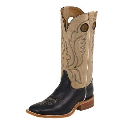 Bent Rail Mens Black Square Toe Western Boot