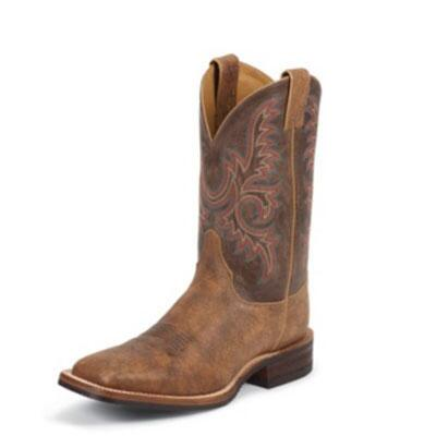 Bent Rail Old Map Mens Western Boot