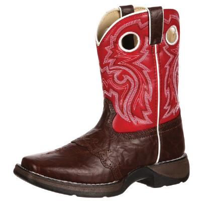 Lil Rebel Kids Brown Lacey Western Boot