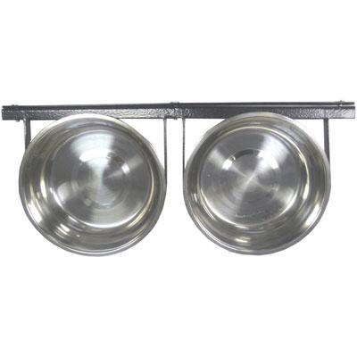 Double Pet Bowl System for Crates and Pens