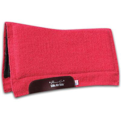 Comfort-Fit SMx HD Air Ride Solid Color Western Saddle Pad Red