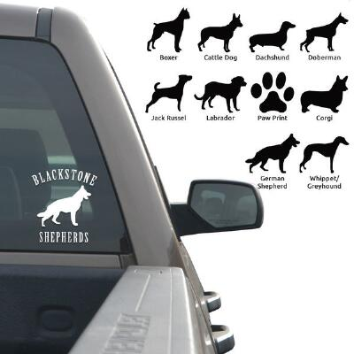 Window Decal 4 in. With Dog Logo And Text
