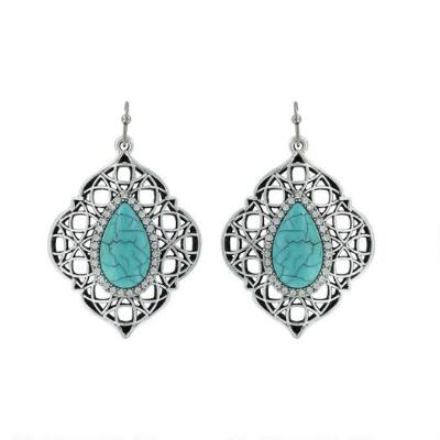Rock47 Once Upon A Time Wire and Lace Turquoise Earrings