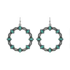 Rock47 Once Upon A Time Turquoise Wreath Earrings - TB