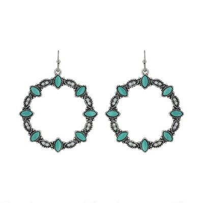 Rock47 Once Upon A Time Turquoise Wreath Earrings
