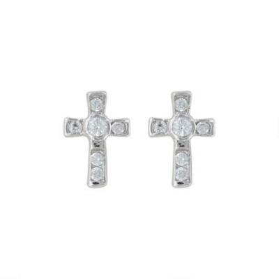 A Mark of Faith Cross Earrings